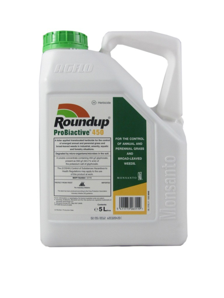roundup probiactive 450 herbicide. Black Bedroom Furniture Sets. Home Design Ideas