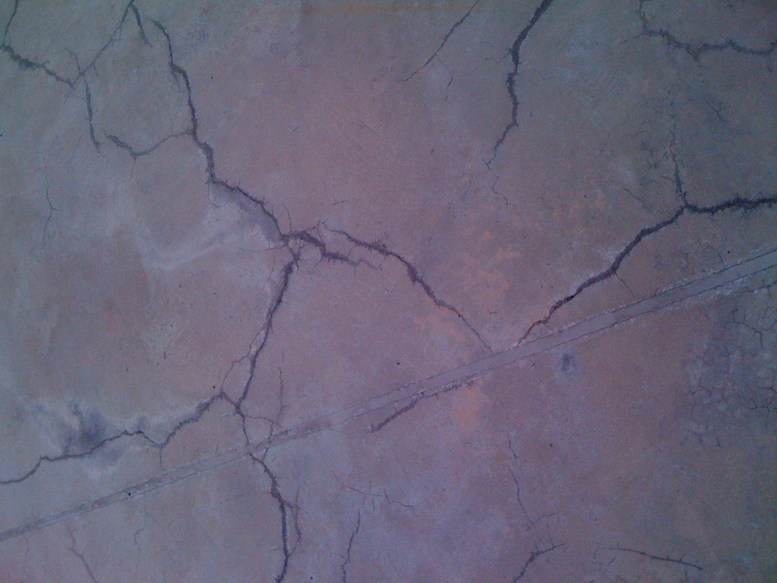 cracked leaking pond